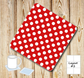 Red coasters with white dots  | Free printable coasters