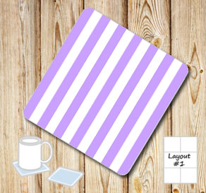 Light purple and white striped coasters  | Free printable coasters