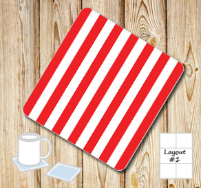Red and white striped coasters  | Free printable coasters
