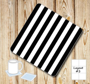 Black and white striped coasters  | Free printable coasters