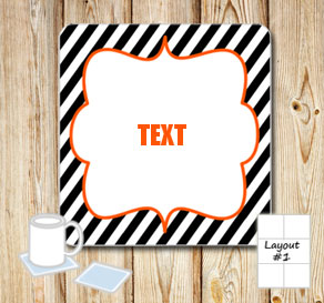 Coasters for Halloween with editable text  | Free printable for Halloween