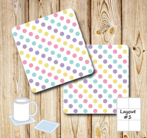 Coasters with dots  | Free printable coasters