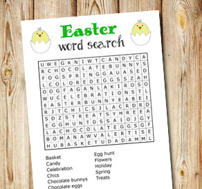 Easter inspired word search 1  | Free printable for Easter