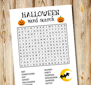 Halloween inspired word search 1  | Free printable for Halloween