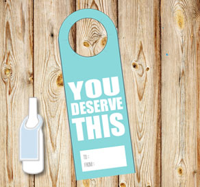 Neck tags: You deserve this (turquoise)  | Free printable neck tag