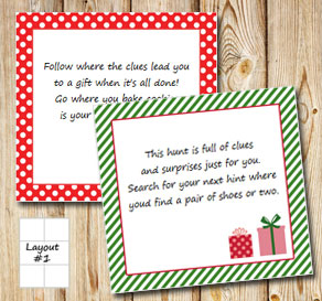 Christmas treasure hunt (part 1)  | Free printable for Christmas