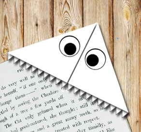 Corner bookmark: Monster  | Free printable for Halloween
