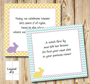 Easter treasure hunt (part 1)  | Free printable for Easter