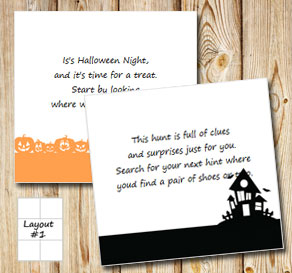 Halloween treasure hunt (part 1)  | Free printable for Halloween