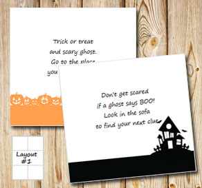Halloween treasure hunt (part 2)  | Free printable for Halloween