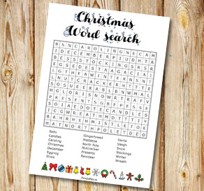 Christmas inspired word search 2  | Free printable for Christmas