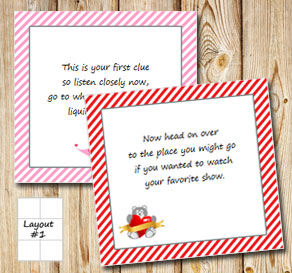 Valentines day treasuer hunt (part 1)  | Free printable for Valentines day